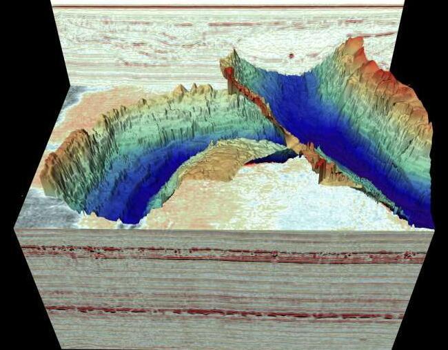 核磁共振扫描揭示了北海下方壮观的冰河时代景观